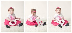first birthday photo session